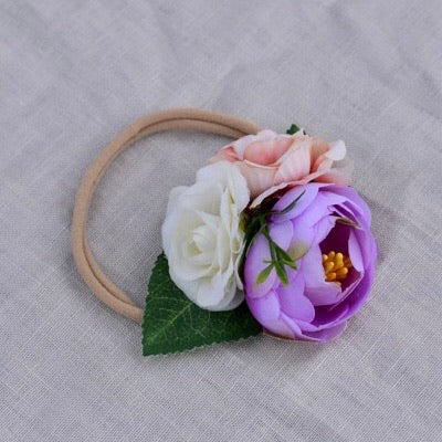 Floral Headband Purple