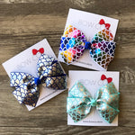 Mermaid Foil Pinwheel Bow