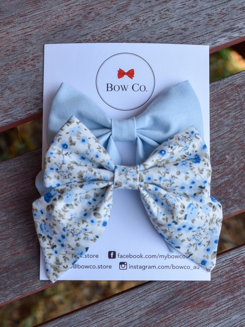 Violet Bow Set - Baby Blues