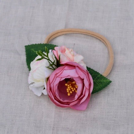 Floral Headband Rose Pink