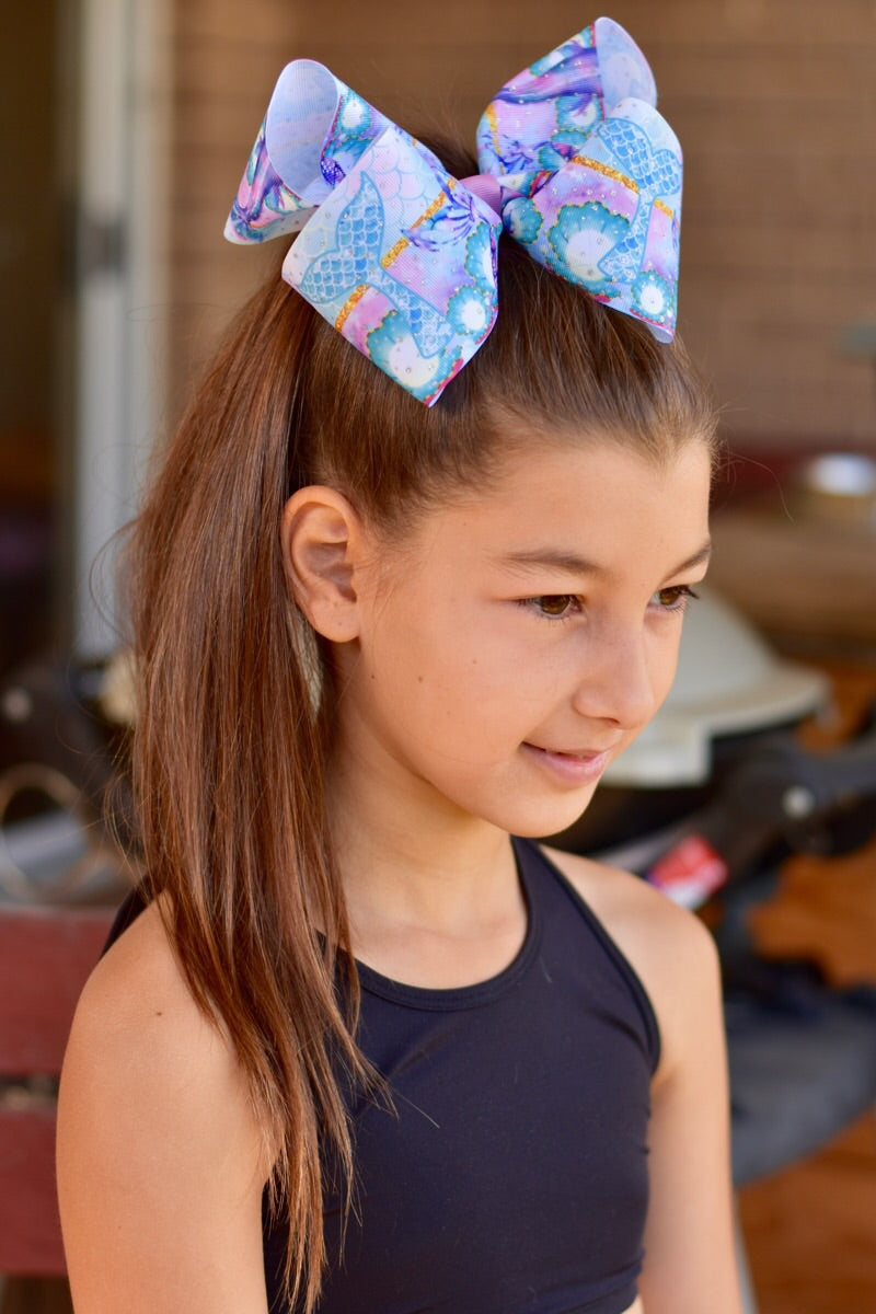 Mermaid Tail Jumbo Boutique Bow
