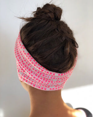 Brilliant Pink Luxe Twist Headband