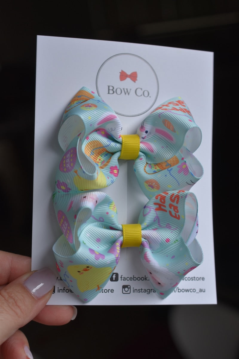 Easter Ribbon Pigtail Pair
