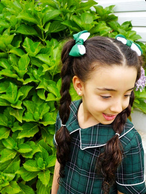 Tilly Two Tone Pigtail School Bows