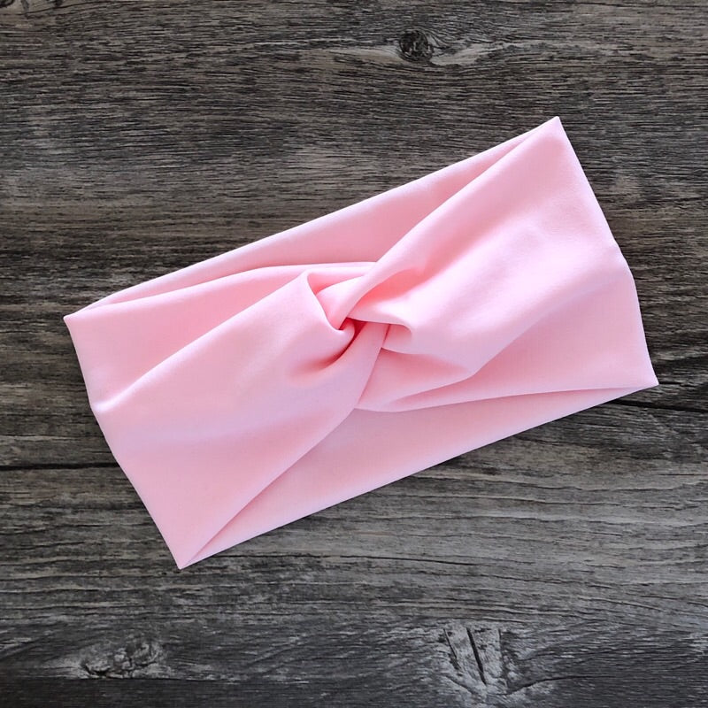 Blush Luxe Twist Headband