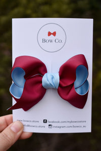 Ava Two Tone School Bow