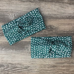 Green Print Luxe Twist Headband