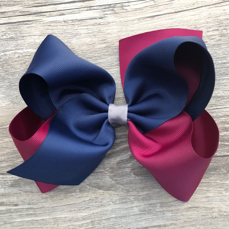 Two Tone Grosgrain Ribbon Bow