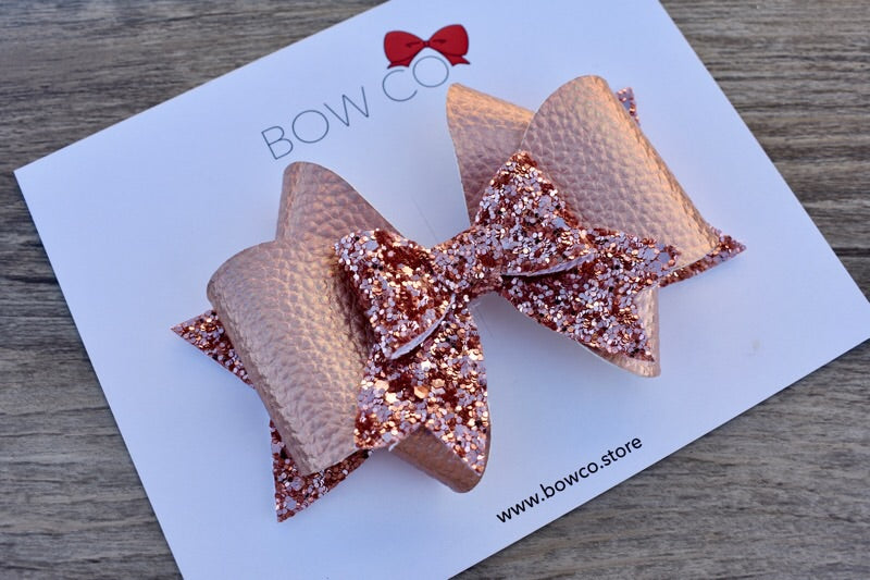 Rose Gold Luxe Adeline Bow