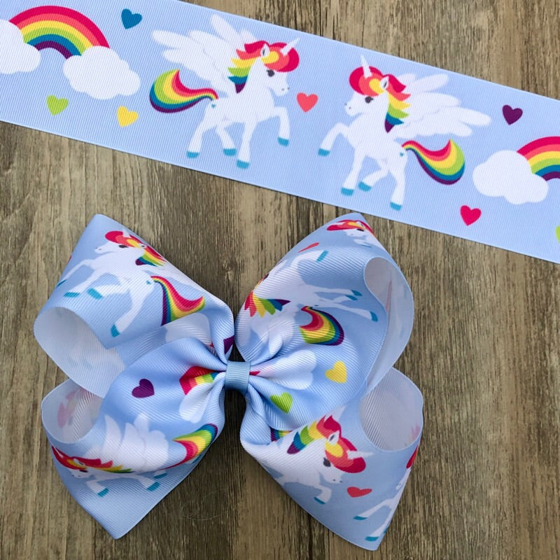 Rainbow Pegacorn Boutique Bow