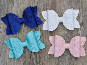 Floral Embossed Bow