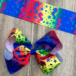 Seahorse Rainbow Glitter Boutique Bow