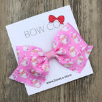 Pink Retro Santa Boutique Bow