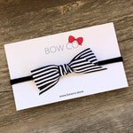 Black & White Candy Stripe Hair Bow