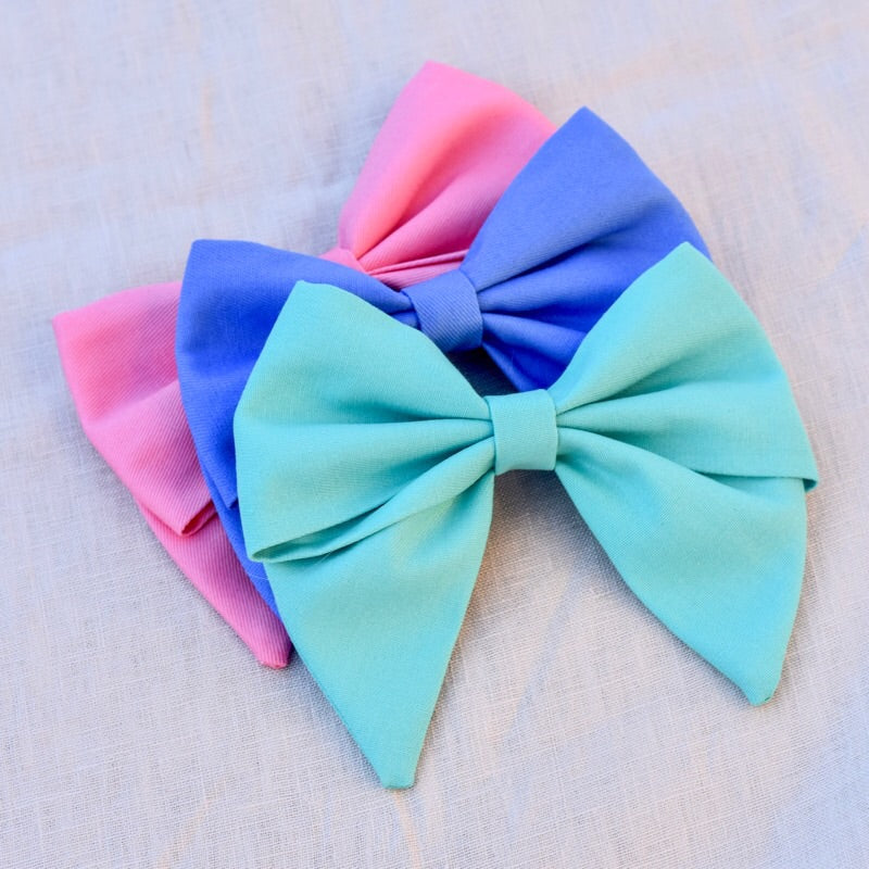 Everly Fabric Bows - Brights