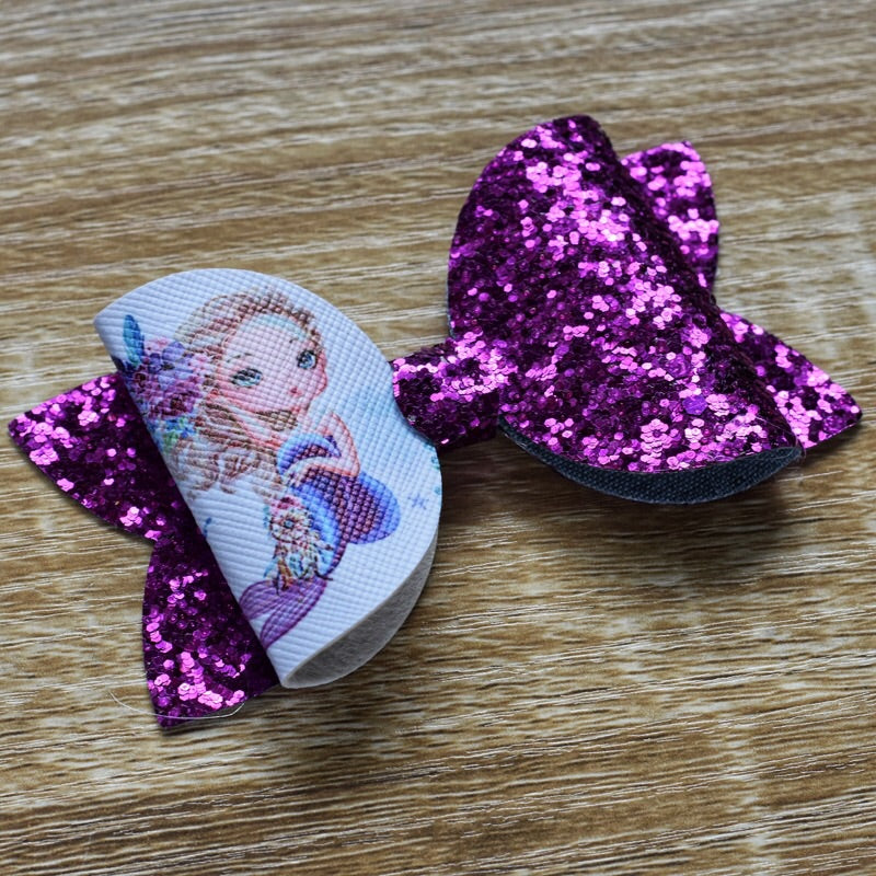 Violet Mermaid Glitter Bow