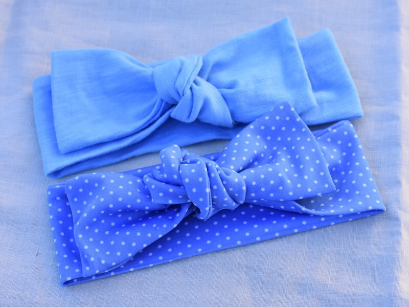 Baby Blue Stretch Topknot Headbands