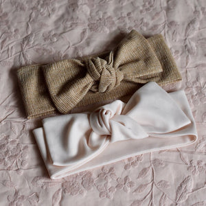 Stretch Topknot Headbands - Nudes