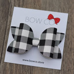 Black & White Plaid Bow