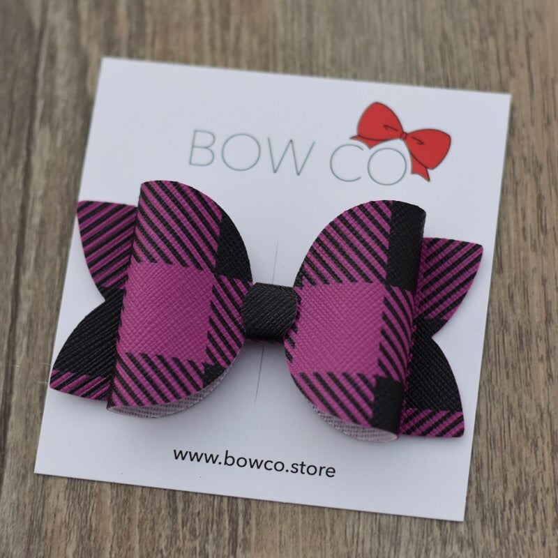 Magenta Plaid Bow