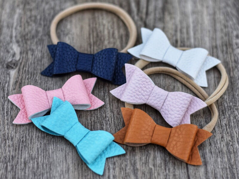 Poppy Faux Leather Bows