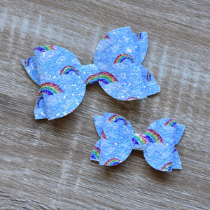 Over the Rainbow Glitter Bow