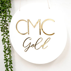 3D Round Name Plaque (20cm & 29cm)-3D Name Plaque-CMC Gold