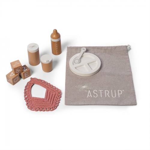 Astrup Wooden Role Play Doll Wooden Feeding Set - 9 pcs