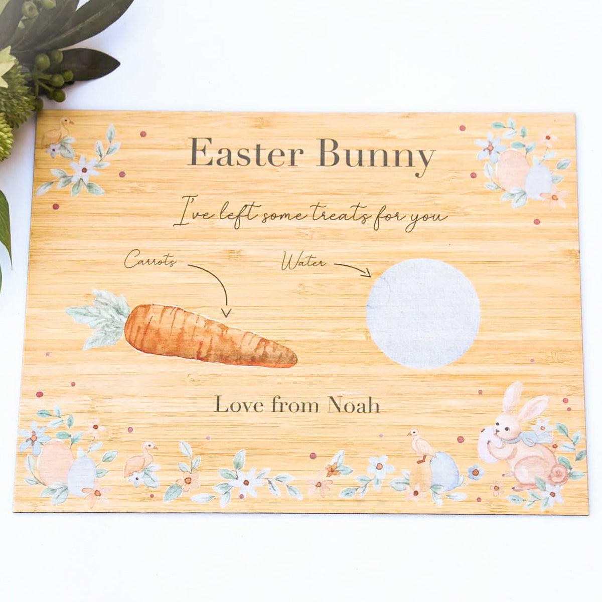Easter Bunny Board - Colour Illustrated