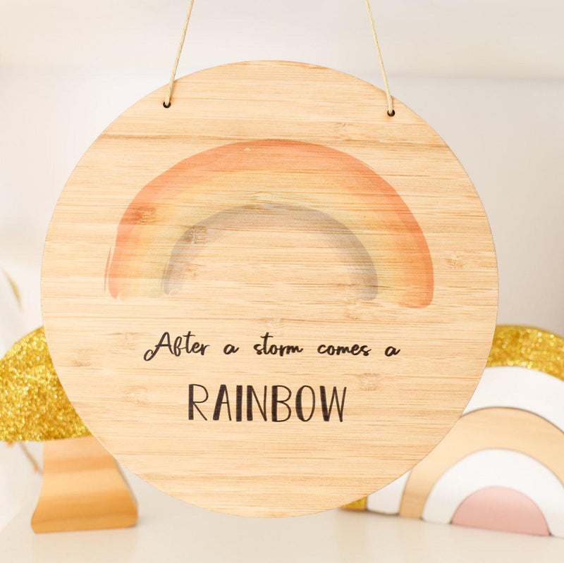 After A Storm Comes a Rainbow Printed Plaque-Printed Name Plaque-CMC Gold