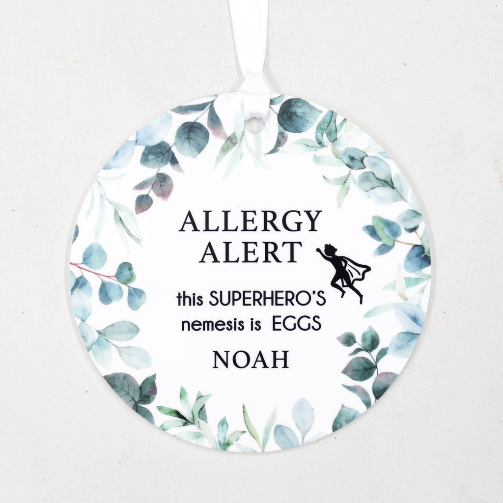Allergy Alert Plaque-Birth Announcement-CMC Gold