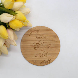 Another little one to adore Birth Announcement Plaque-Birth Announcement-CMC Gold