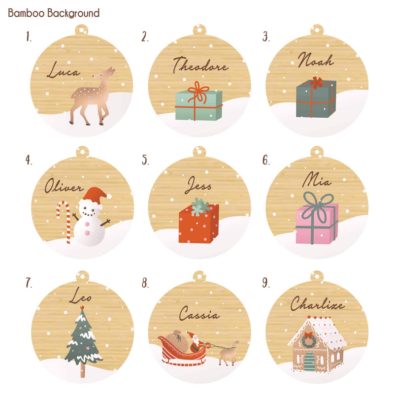 Christmas Ornament - Personalised Illustrations