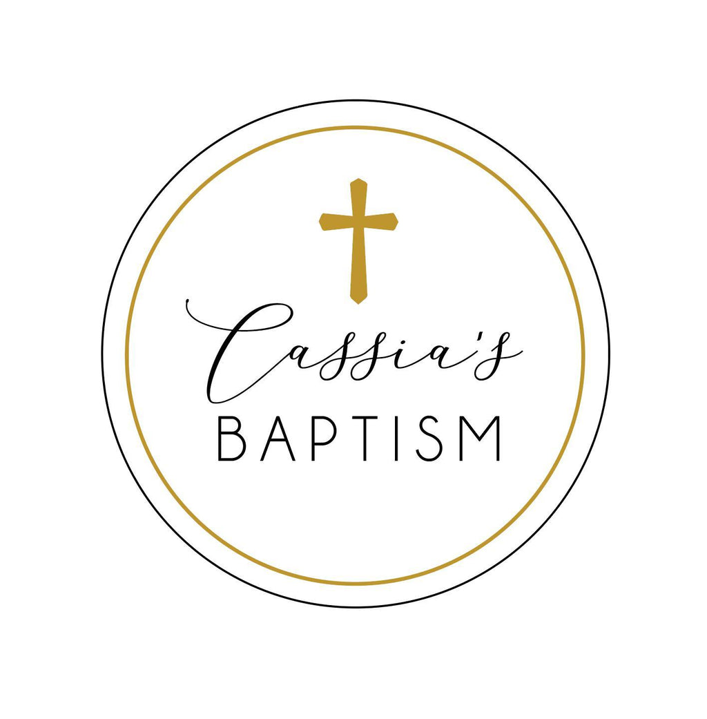 Baptism Printed Cake Topper-Cake Topper-CMC Gold