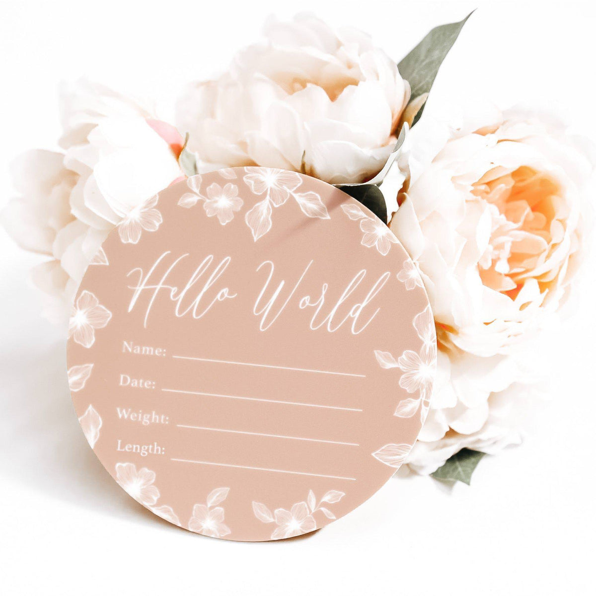 Birth Announcement Card - Hello World Full Colour Acrylic Print