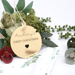 Christmas Ornament - 1st Christmas-Christmas Ornament-CMC Gold
