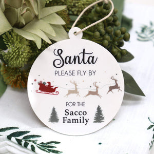 Christmas Ornament - Santa Fly By-Christmas Ornament-CMC Gold