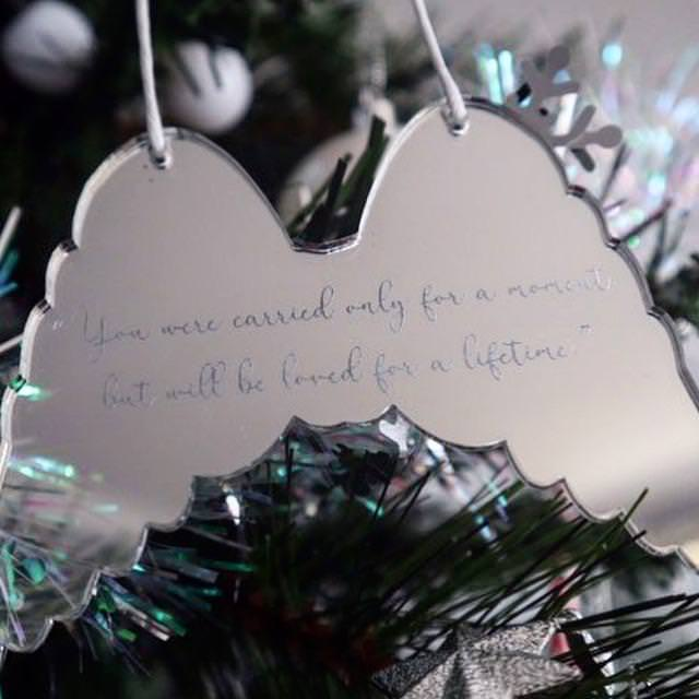Christmas Ornament - You were carried for a moment but will be loved for a lifetime