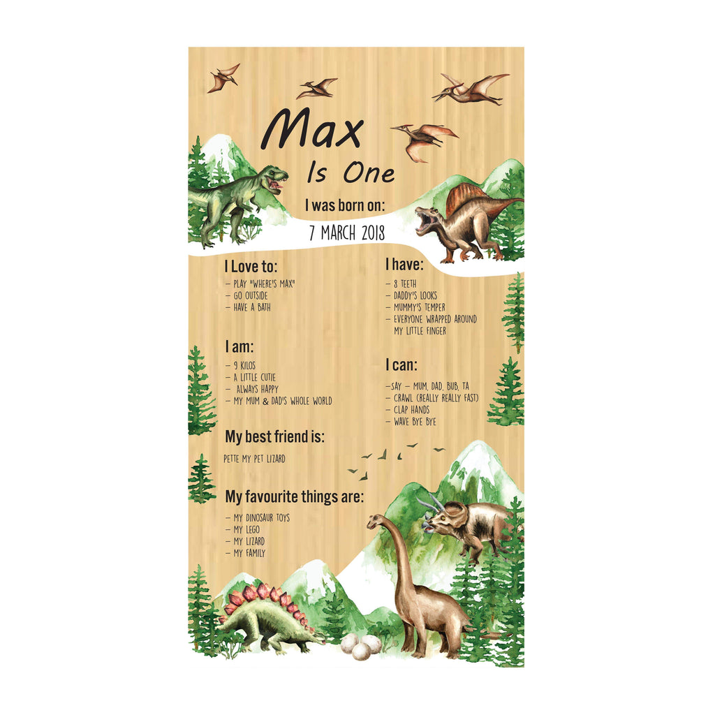 Dinosaur Birthday Board-Birthday Board-CMC Gold