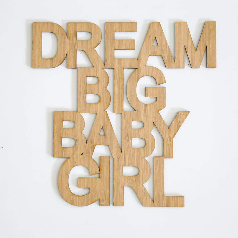 Dream Big Baby Girl Quote Decal-Quote Decal-CMC Gold