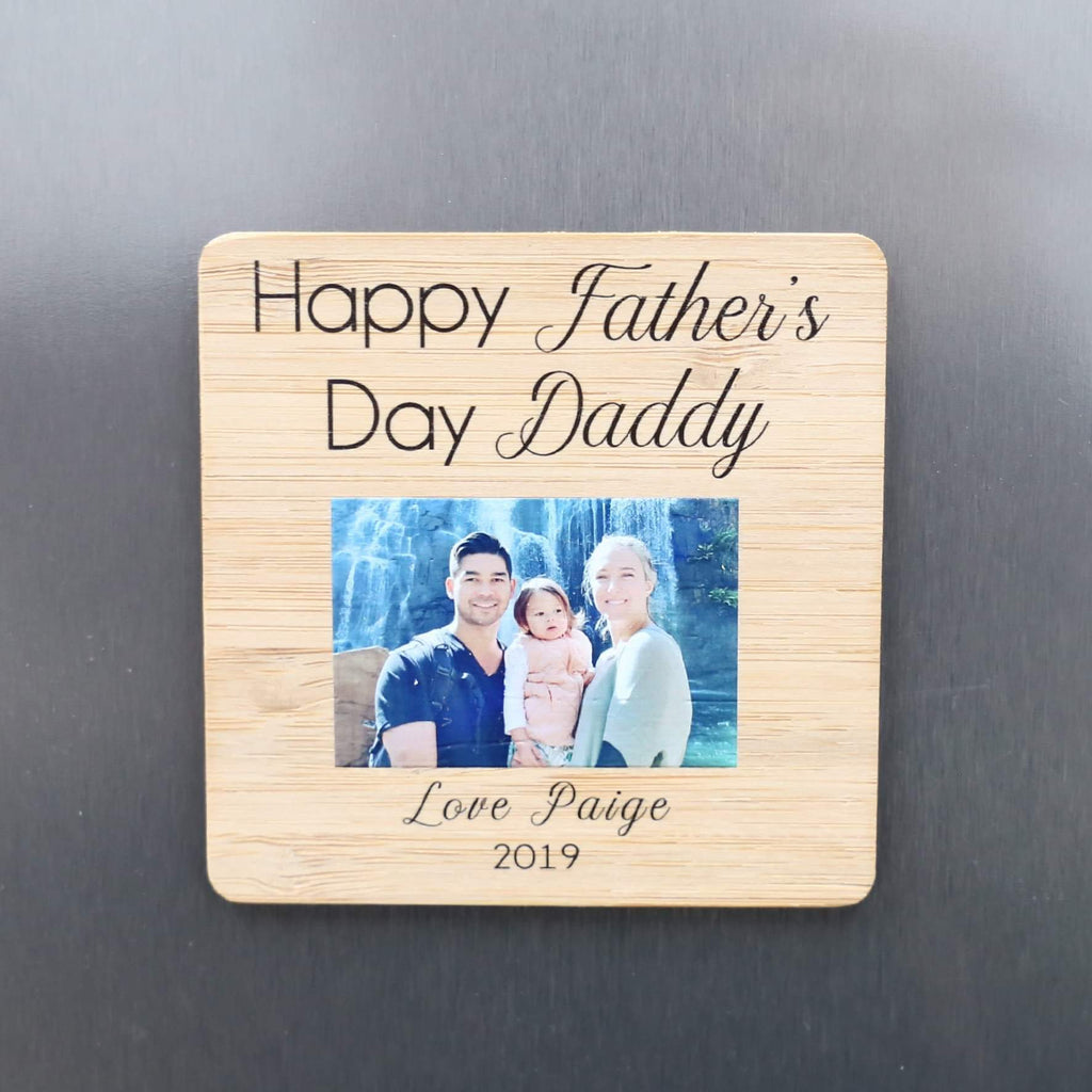 Father's Day Photo Magnet - Happy Father's Day-Father's Day-CMC Gold
