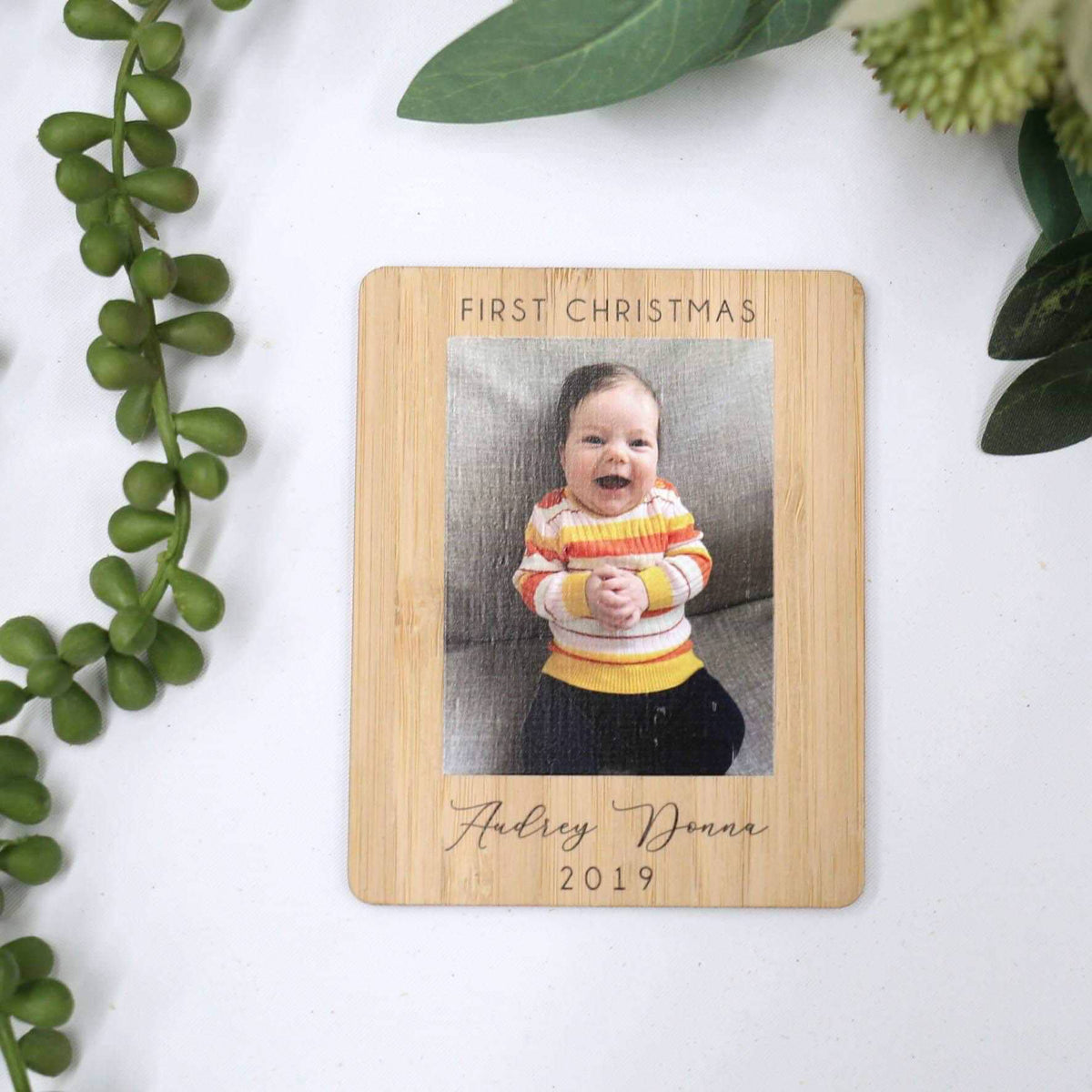 First Christmas Photo Magnet