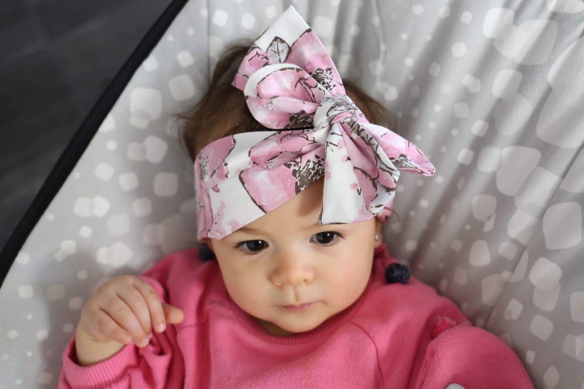 Floral Headwrap - Bow and Knot-Top Knot Headbands-CMC Gold