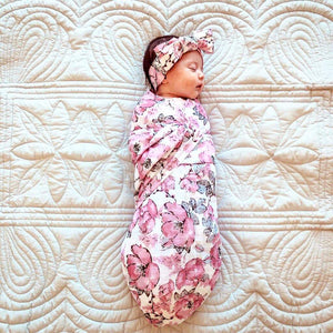 Floral Swaddle Set-Swaddles-CMC Gold