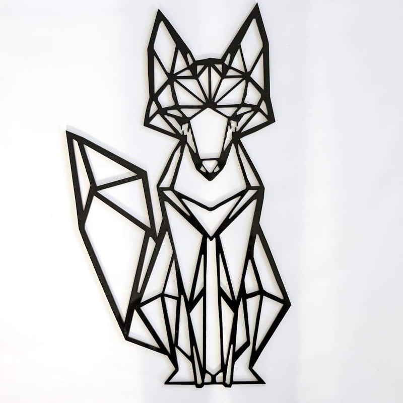 Fox Geometric Wall Decal-Geometric Wall Decal-CMC Gold