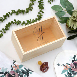 Girls Botanical Letter- Keepsake Box-Keepsake Box-CMC Gold