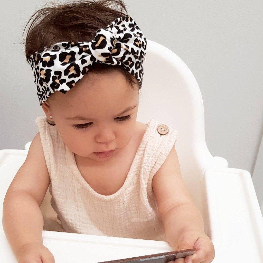 Headwrap- NB - 18m-Top Knot Headbands-CMC Gold