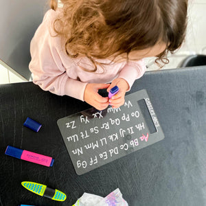 Personalised Trace & Erase - ABC board