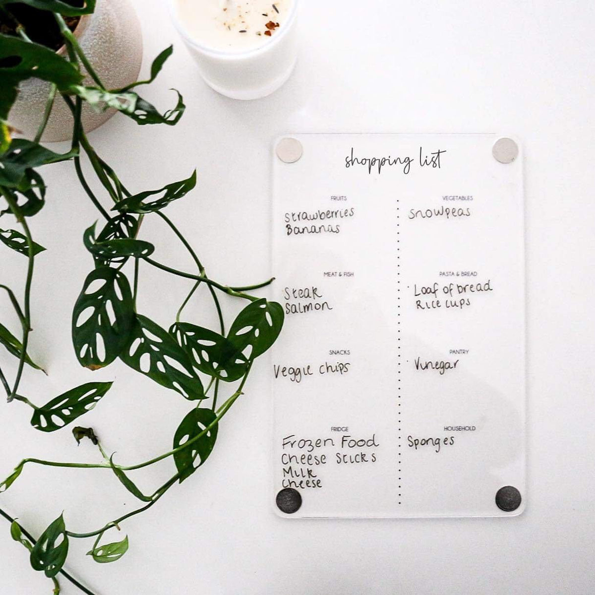 Shopping List Planner (magnetic)