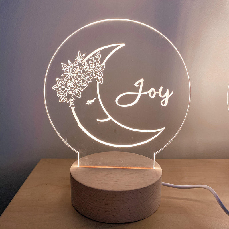 Night Lights (USB Operated) - Round Personalised